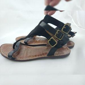 Sam Edelman Triple Buckle Sandals  Black 8